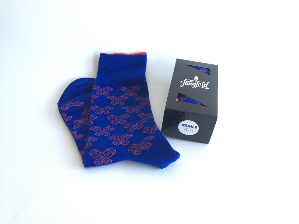 Ladies piston socks blue