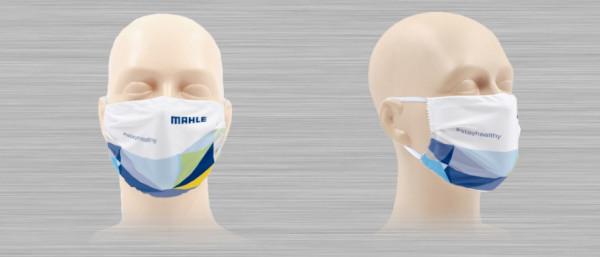 Microfiber face mask with MAHLE logo